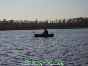 рыбалка с лодки на Николаевке