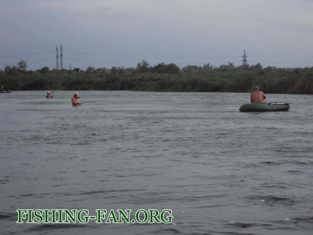 ловля рыбы на Курахово летом
