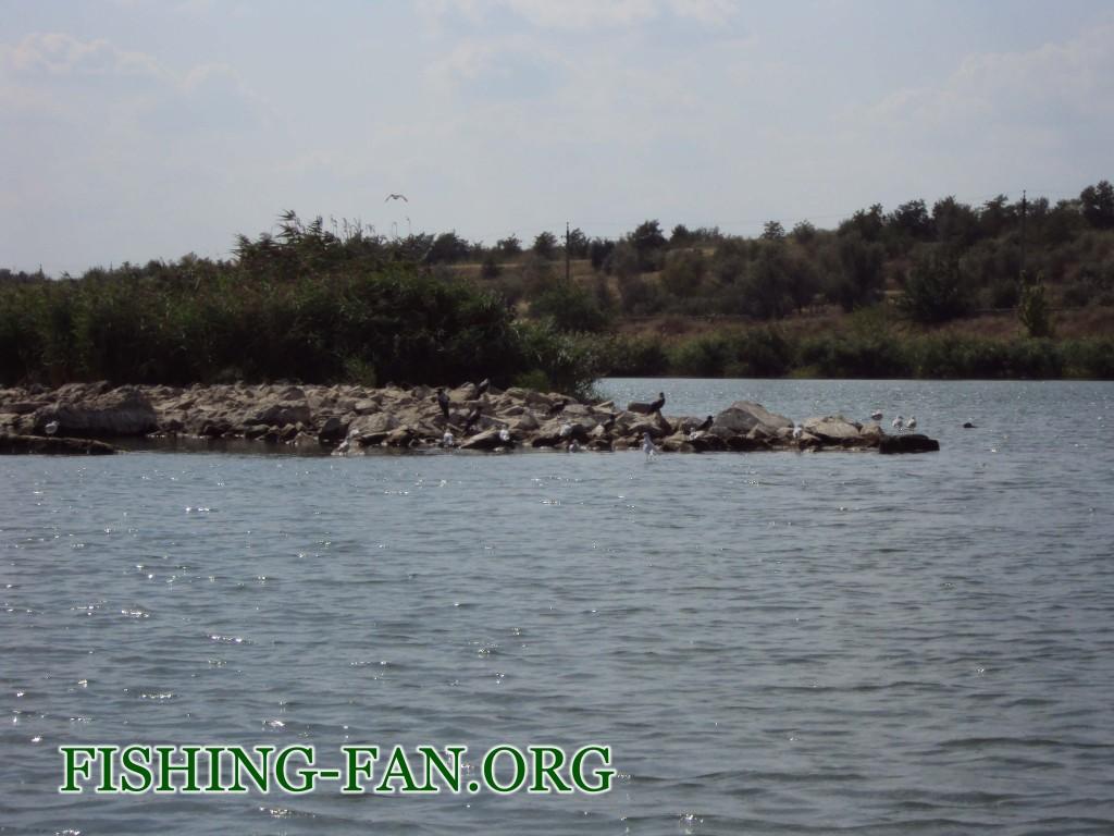 рыбалка осенью на Курахово с лодки