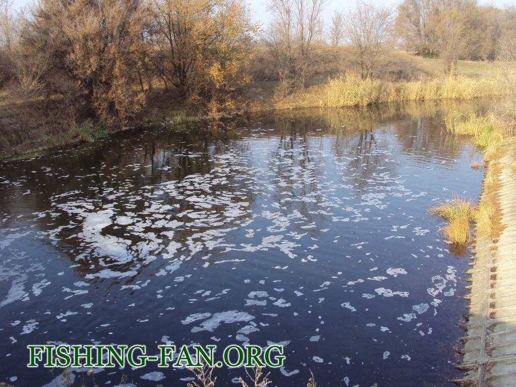 ловля на спиннинг поздней осенью в Донецкой области