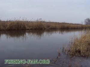 ловля на спиннинг в начале зимы в Донецкой области