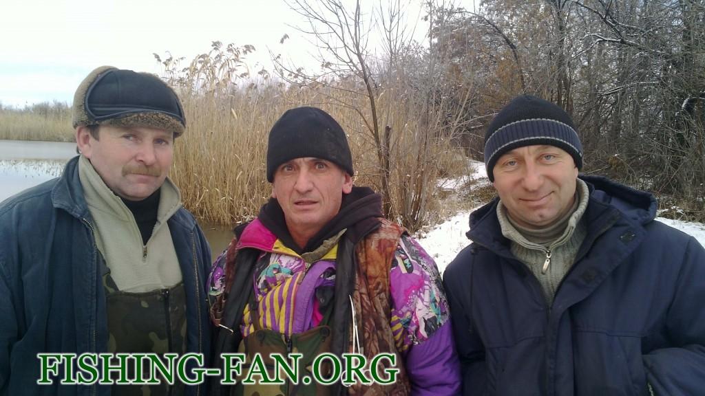 Зимняя рыбалка на спиннинг в Донецкой области