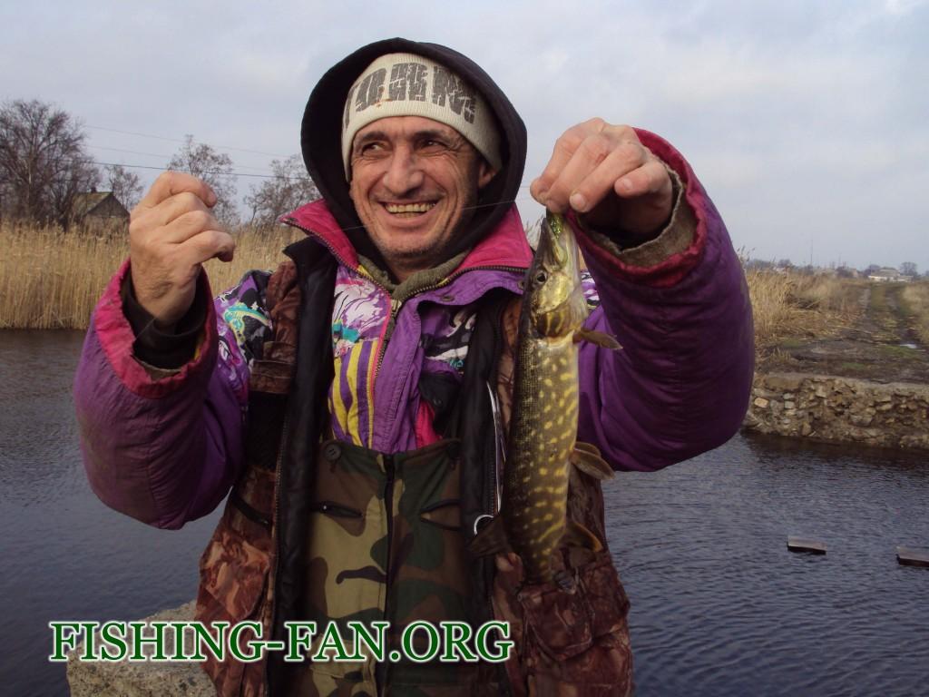 щука зимой на спиннинг в Донецкой области