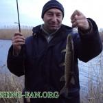 Дневник рыбака 06 01 2012. Рыбалка зимой. Ловля щуки на спиннинг на речках Донецкой области.
