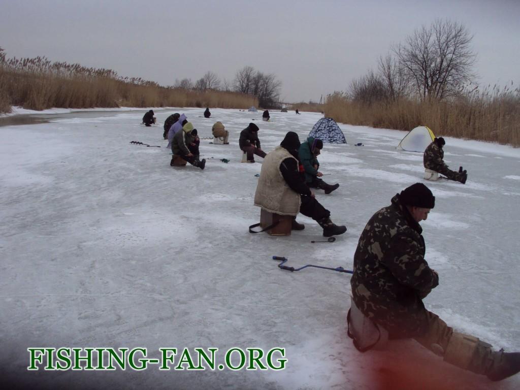 зимняя рыбалка на реках Донецкой области