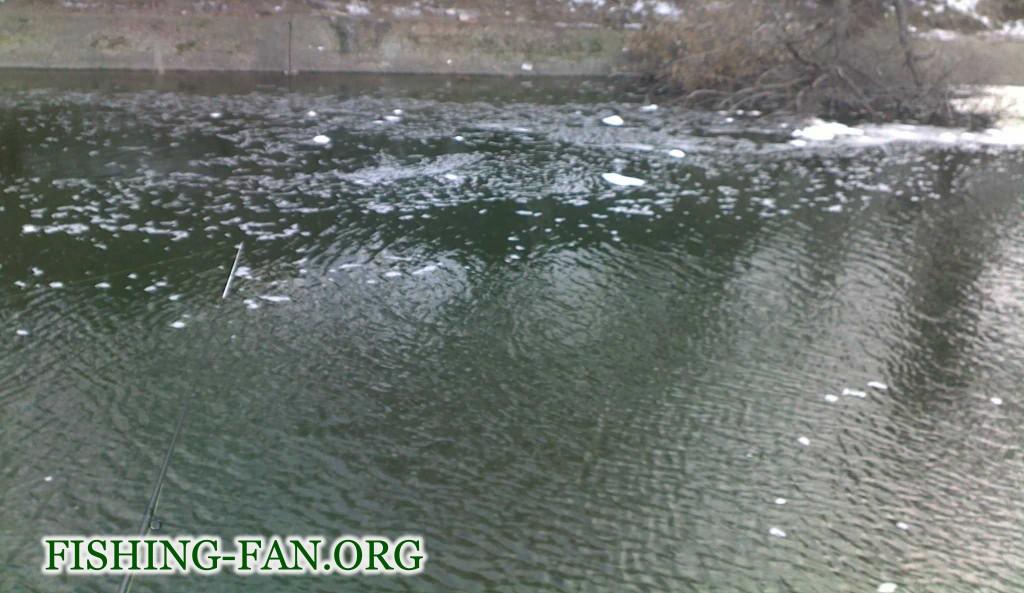 Ловля спиннингом в марте на каналах Кураховского водохранилища