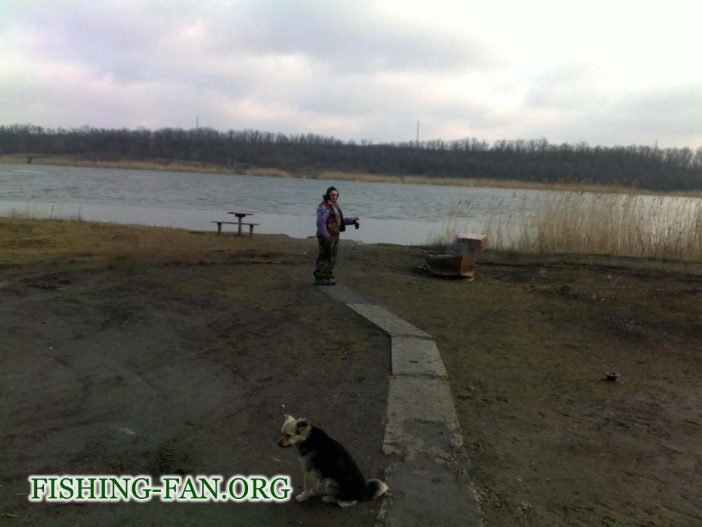 рыбалка в Донецкой области на водоеме с. Константиновка.