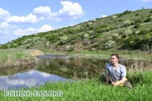 ловля на спиннинг в середине весны в Донецкой области