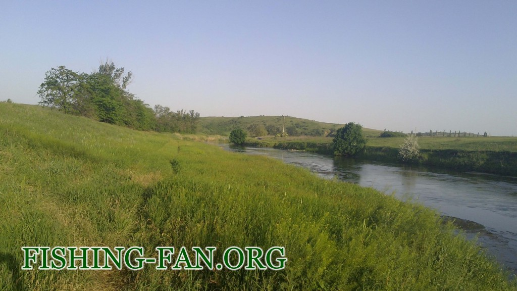 Ловли голавля на реке Кальмиус