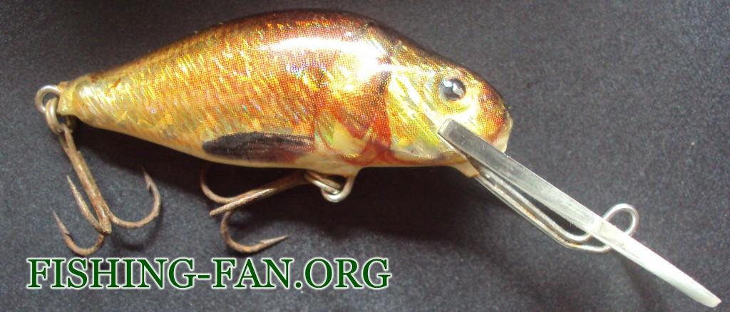 Воблер для ловли щуки Jaxon Deep Diver, модель - VJ-DD05SDR – 1,5-2,5м