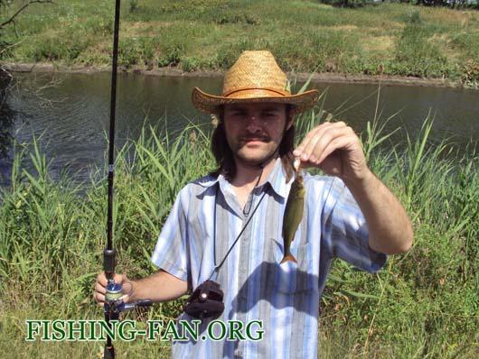 Ловля красноперки спиннингом на реке Кальмиус