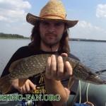 Дневник рыбака 14 07 12 г. Ловля щуки и окуня спиннингом с лодки на Верхней Карловке.