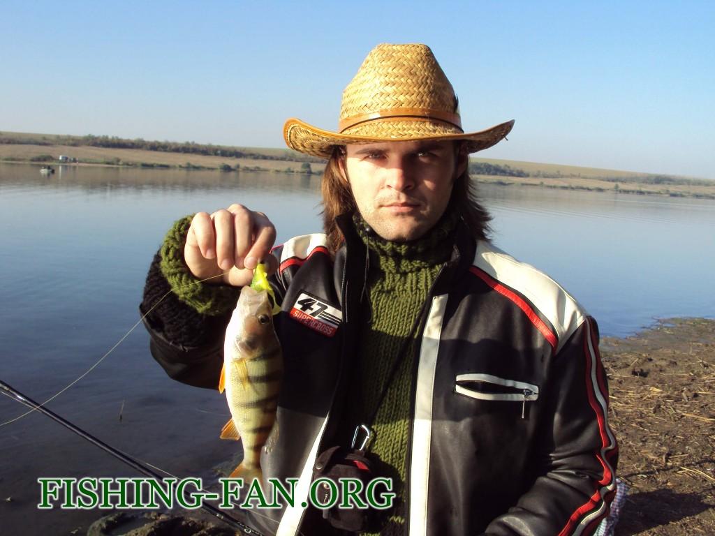 Ловля окуня на спиннинг на Николаевском водохранилище в начале осени