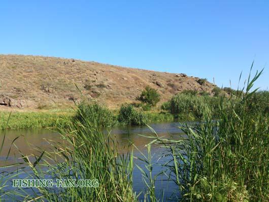 Ловля голавля на спиннинг на реке Кальмиус