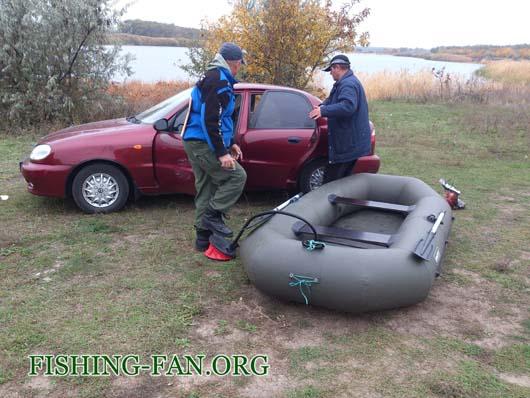 Ловля судака на спиннинг с лодок в Донецкой области