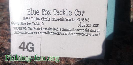 блесна blue fox vibrax